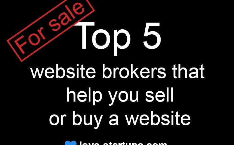 Top 5 website brokers that help you sell or buy a website for Top online selling websites